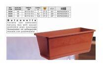 Balconella Balconiera Vaso da Balcone Marrone con Riserva 40 cm Bama
