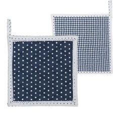 Clayre&Eef  Topflappen Serie TLS Blau mit weißen Sternen