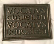Carl Jung God is Present Plaque Latin Vocatus Atque Non Vocatus; From Ireland