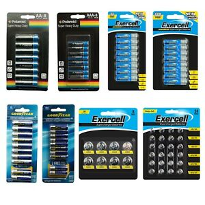 Heavy Duty Batteries Super Max Performance AA, AAA Button Cell Exp 2023