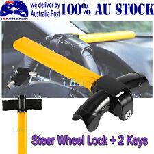 Heavy Duty Universal Car Steering Wheel Lock T Type Anti-theft Lock W/ 2 Keys MQ