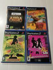 PlayStation 2 games bundle- ABBA Singstar-Britneys Dance Beat-Dancing Stage Fusi