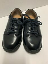 Little Boys Stride Rite Black Leather oxfords/dress shoes 7.5W  CLASSY!