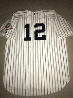 Rare 2003 Alfonso Soriano On-Field New York Yankees Authentic Russell Jersey 52