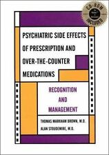 Psychiatric Side Effects of Prescription and Over-The-counter Medications: