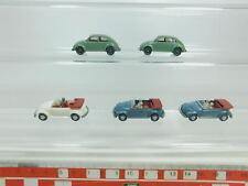 bk60-0,5 #5x Wiking H0 / 1:87 Car / Car/ Automobile Volkswagen / VW Beetle