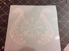 Norse Protection Symbol, Vegvísir, Viking Runic Compass Sticker Decal