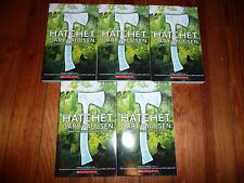 NEW Lot 5 copies HATCHET Gary Paulsen GUIDED READING Lit Circle books AR5