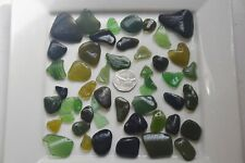 English Sea Glass from Cornwall  ...... Glorious Greens , weighing 215g