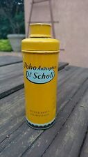 OLD-VINTAGE 1940's TIN DR. SCHOLL FOOT POWDER ANTISEPTIC USA IN SPANISH LANGUAGE