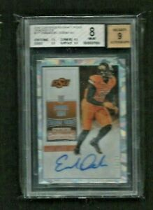 Emmanuel Ogbah Contenders CRACKED ICE REFRACTOR Auto RC #/23 BGS Browns DOLPHINS