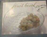 """VINTAGE 10"""" fruit bowl grape design SHAPE BOWL SET ~ Salad ~ Fruit ~USA new old"""