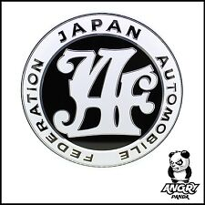 CUSTOM JAF JAPAN AUTOMOBILE FEDERATION GRILL BADGE EMBLEM BLACK JDM RETRO