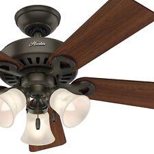 """44"""" Hunter Fan New Bronze Ceiling Fan with Swirled Marble Light Kit, 5 Blade"""