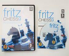 Fritz Schach 9-PC DVD-Fritz by Chessbase-seltene-günstig, schnell p&p!