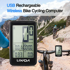 Lixada Wireless Bike Computer LED Backlight Bicycle Speedometer USB Rechargeable