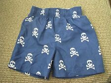Childrens Place Blue Swim Board Shorts w/Skulls Toddler Boy Size 12 to 18 mo