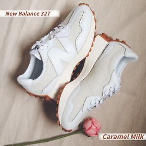 New Balance 327 NB Beige White Women Casual Lifestyle Shoes Sneakers WS327LA B