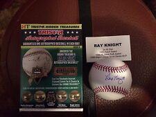 Ray Knight Hidden Treasures Autographed Baseball