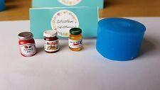 JAM JAR silicone mold 1:12th scale dollshouse miniature UK SELLER grocery modern