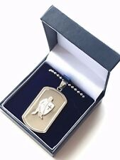 gravure personnalisée ANGLETERRE st George pendentif cadeau en boîte