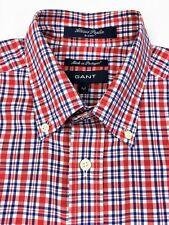 GANT Alassio Poplin E-Z Fit Men's Long Sleeve Button Down Collar Check Shirt M