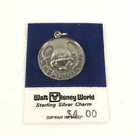 Vintage 1970s Sterling Silver Mickey Mouse Charm Walt Disney World Productions