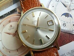 Gold Capped Vintage 1960's Men's Gubelin Automatic Swiss Mechanical Watch Runs