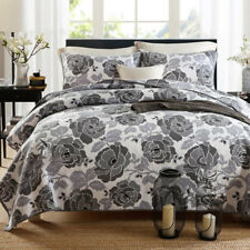 Floral Queen/King Size Patchwork Quilted Coverlet BedSpreads Set  Bed Throw Rug