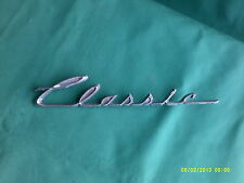 "collectable old chrome  washing machine emblem ""classic"" 8"" long"