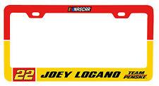 NASCAR #22 JOEY LOGANO LICENSE PLATE FRAME-NASCAR Tag Frame