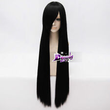 Women's Fashion 40 Inches Black Long Straight Cosplay Wig Heat Resistant