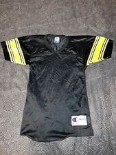 Youth Vintage Champion Blank Pittsburgh Steelers Jersey Black/Yellow Size M 8-10