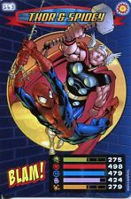 Spiderman Heroes And Villains Card #163 Thor & Spidey