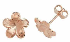 9ct Rose Gold Stud Earrings New
