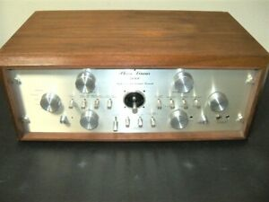 PHASE LINEAR Model 4000 Autocorrelation Preamp Wood Cabinet Serviced Nice!