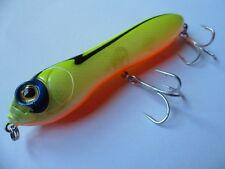 Leurre mer riviere pêche surface Pencil chartreuse 13cm 34g