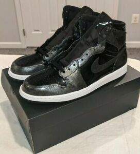 2016 Air Jordan 1 Retro High Black Patent Leather Size 12 100% Authentic