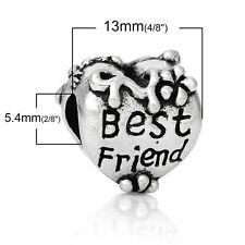 """Best Friend"" Charm for Snake Chain Charm Bracelets 2716"