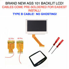 GBA MOD LCD Backlight Kit 32 or 40 Pin Type B GBA SP AGS-101 Backlit Screen