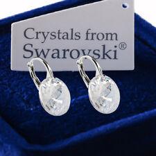 925 Sterling Silver Earrings MOONLIGHT Genuine 12mm Crystals from Swarovski®