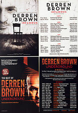 DERREN BROWN UNDERGROUND 2017 TOUR FLYER x 2 & INFAMOUS 2013 TOUR FLYER x 2