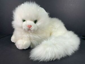 Vintage 1980s Russ NIKKI White Cat Stuffed Animal 13in x 9in