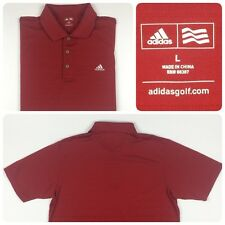Mens Adidas Golf Polo Shirt Red Poly Size Large