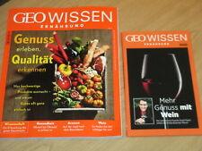 GEO WISSEN ERNÄHRUNG NO.3 + DVD: GENUSS ERLEBEN QUALITÄT ERKENNEN + WEINGENUSS
