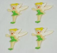 BB FLATBACK TINKERBELL FAIRY pk of 4 disney princess cabochons resin hair bow