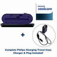 Genuine PHILIPS Travel Charger Case Sonicare DiamondClean Amethyst Black Purple