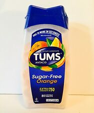 Tums Sugar-Free Extra Strength 750 Orange 80 Chewable Tablets 4/2018 Sealed