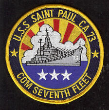 USS SAINT PAUL CA73 COM 7TH FLEET US NAVY CRUISER PATCH IN HARM'S WAY PIN UP WOW