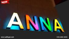 Newled Channel Letters Sign 18 130 Magic Colors Front And Back Lit